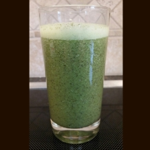 Start your day with a tasty and nutritious green drink :) Chia seeds, Nutiva hemp protein, kale medley - Taylor Farms Organic (spinach, kale, chard, carrots), raw almonds, Macro Life Naturals macro greens, and a banana