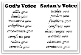 satans voice vs gods voice