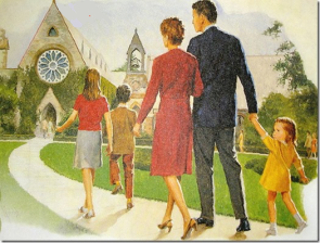 family-going-to-church