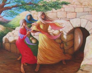 mary-magdalene-discovering-the-empty-tomb-herschel-pollard