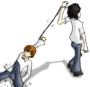 death_note__dragging_light_by_tanteisakana